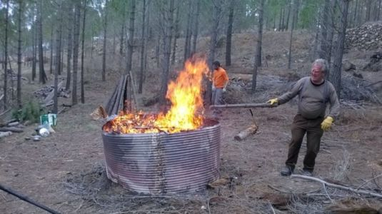 combustión a alta temperatura